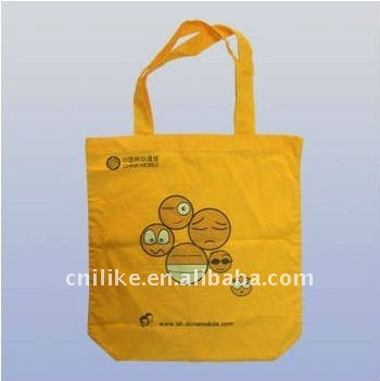 2011 new design yellow recycled shopping non woven bag