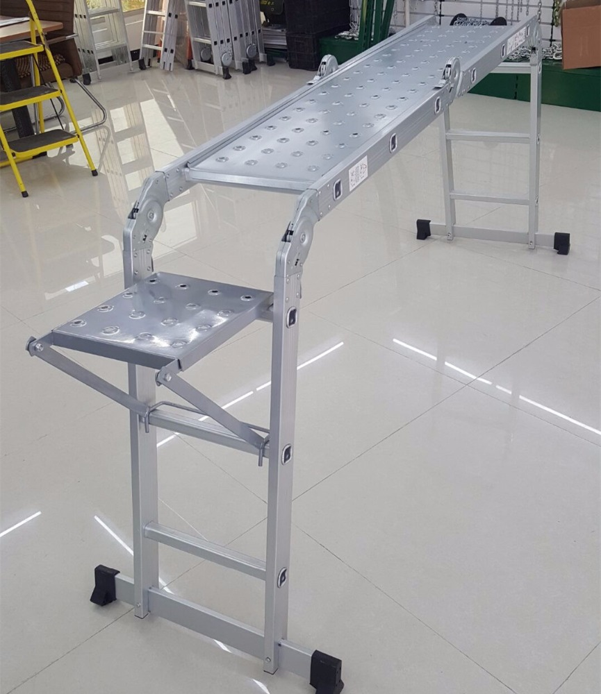 high quality multi-purpose / multi purpose aluminum bridge ladder with platform EN131