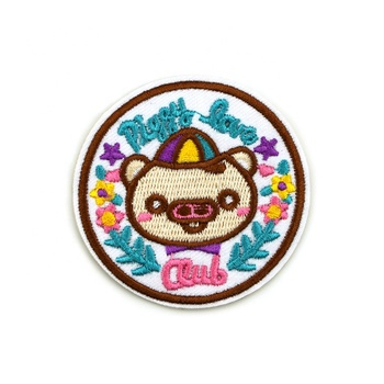 Wholesale Custom Embroidery Heat Patch Logo for Clothing