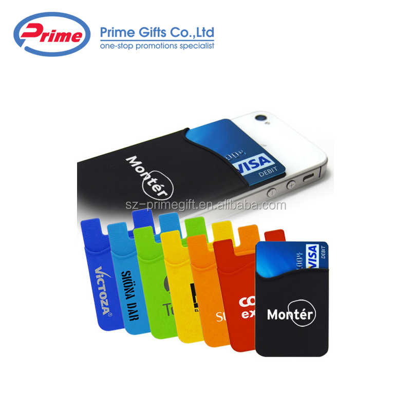 Wholesale Silicone Credit Card Holder with Custom Logo