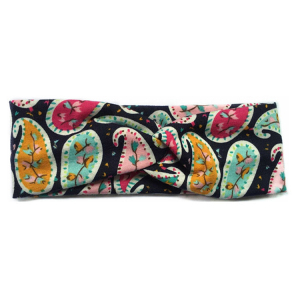Fashion Women Print Cross Boho Cotton Headband