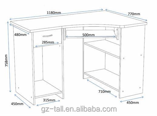 도매 현대적인 홈 오피스 가구 목재 컴퓨터 책상-목재 테이블 ...