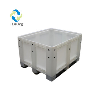 Heavy Loading industry plastic pallet boxes / bulk container