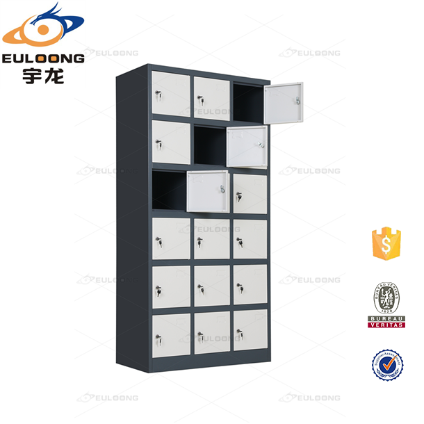 Gym Widely Used Storage Cabinet with 18 Lockable Mini Locker