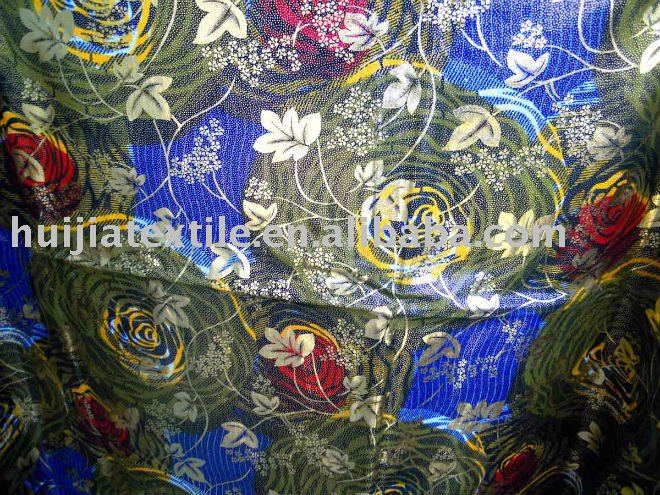 African Real wax fabric golden print
