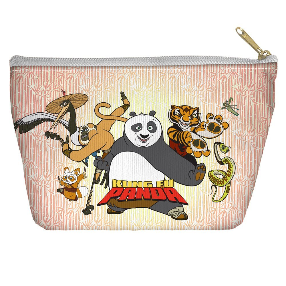 KUNG FU PANDA/KUNG FU GROUP - ACCESSORY POUCH - WHITE - 12.5x8.5 by Trevco