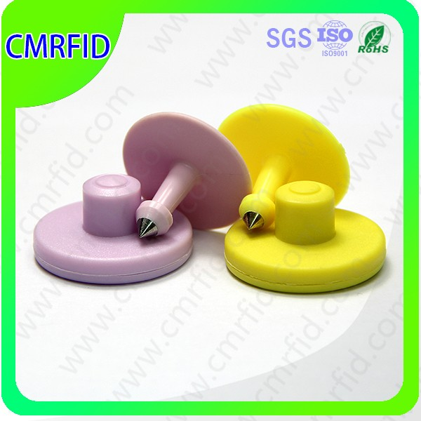 ISO 11784 and ISO 11785 Duplex Electronic Rfid Animal Tag / EAR TAG in agriculture for sheep, cattle