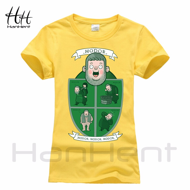 70e5899b Wholesale-HanHent Hodor Games Of Thrones Women T-Shirts Funny A Song ...
