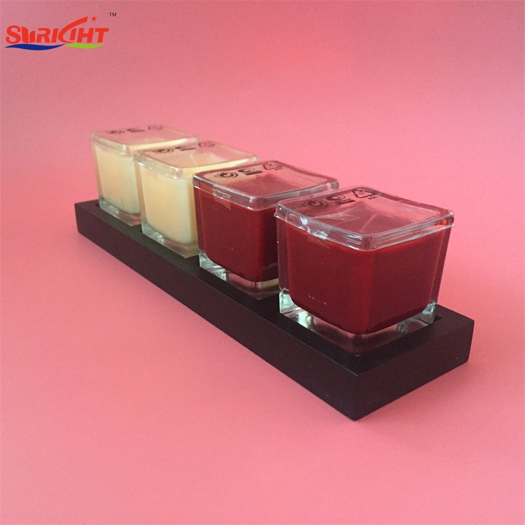 OEM Private Logo Design Aroma Paraffin Wax Glass Jar Candle with MSDS