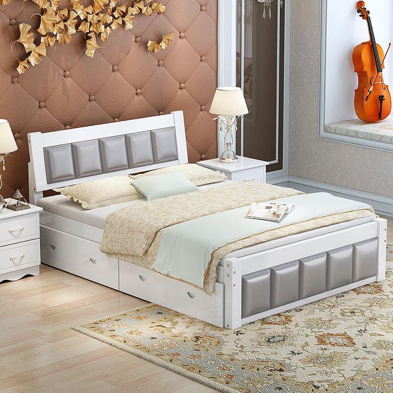 Venta al por mayor cuero camas modernas-Compre online los mejores ...