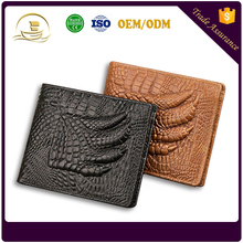 Baellerry leather wallet men casual short section crocodile pattern travel wallet cowhide retro purse