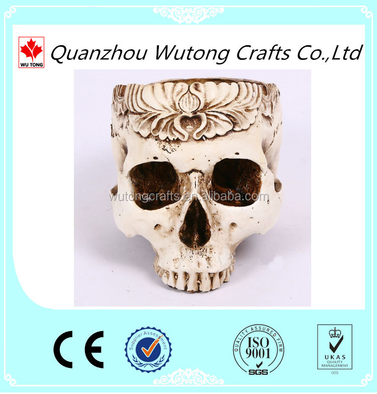 The new creative skull ashtray resin handicraft decorative furnishing articles for Halloween Decoration