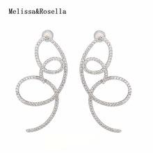 00a6123c2268 2017 La Venta caliente al por mayor 925 joyería de plata pavimentada  cristal espiral 925 pendientes