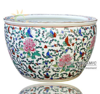 Sale Large Chinese Famille Rose Ceramic Plant Flower Pots For Indoor