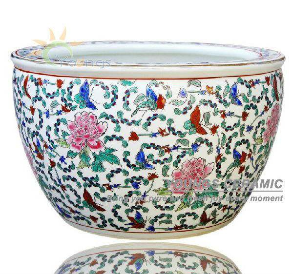 Ceramic Pots For Sale Part - 44: Sale Large Chinese Famille Rose Ceramic Plant Flower Pots For Indoor And  Planting Tree