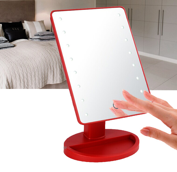 16 LED Makeup Mirror With Lights And Tray   Hollywood Backstage Portable Tabletop  Vanity Mirror