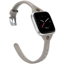 Роскошный кожаный браслет ремешок для Fitbit Versa для женщин и мужчин Смарт часы ремешок петля для Fitbit Versa Фитнес браслет(Китай)