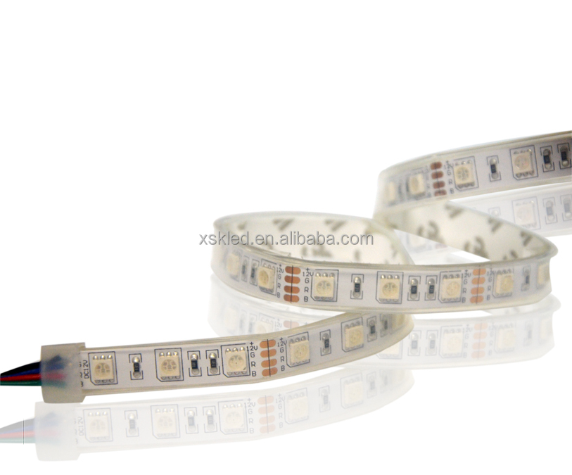 smd5050 waterproof rgb led strip ip68 60led/m with Silicone glue injected