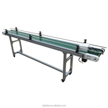 Horizontal Conveyance Mini Aluminum Type PVC Belt Conveyors with Side Frames