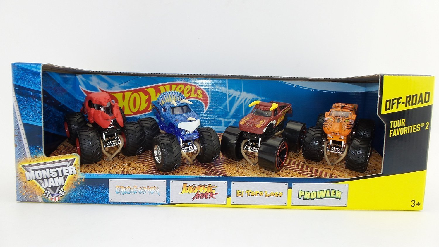 Hot Wheels Monster Jam Off-Road Tour Favorites 1:64 scale Monster Trucks - Styles May Vary