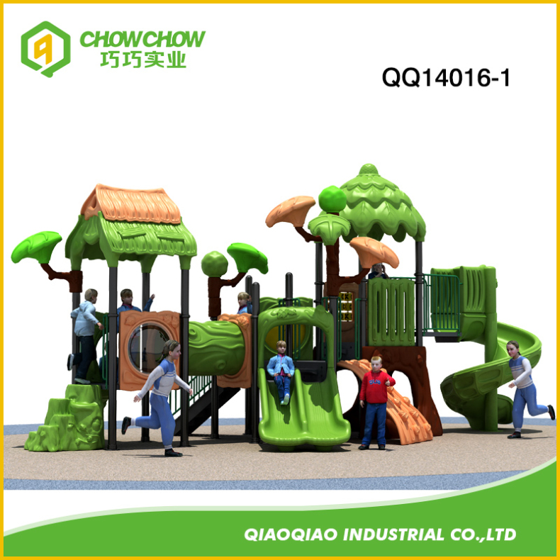 Playful Outdoor Playground Kids Slides Equipment