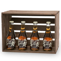 Modern Style Wood Wine Crate Crafted from plywood Wood