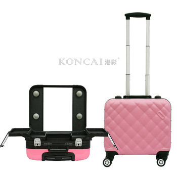 a5f8659d6130 2017 new women cheap cute pink color rolling makeup case