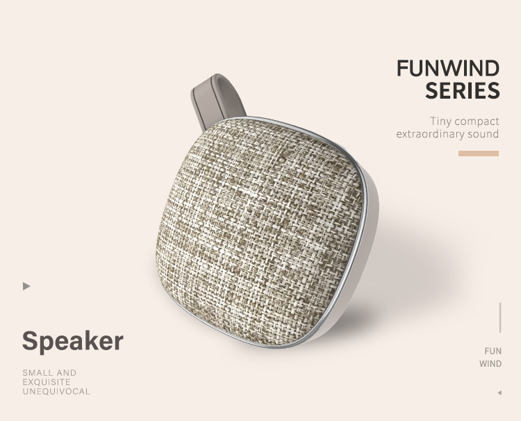 RECCI Funwind series High Quality Sound Portable Wireless Fabric material Blue-tooth Speaker