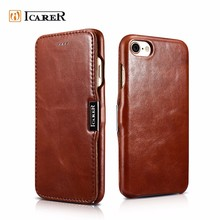 ICARER Luxury Leather Case For Iphone 7, Book Style Vintage Case For iPhone 7 7 Plus