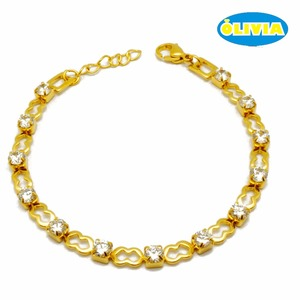 BE006G Awesome Jewelry Gift Stainless Steel Designs Gold Chain Link Bracelet