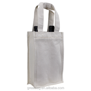 Wholesale cotton two wine bottles bag