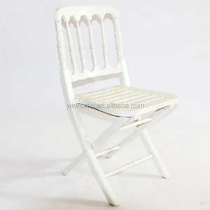Wood Chateau Folding cheltenham Chair with hard cushion for wedding