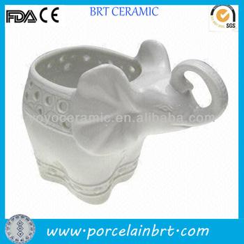 Decorative White Ceramic Elephant Vase Buy Ceramic Elephant Vase