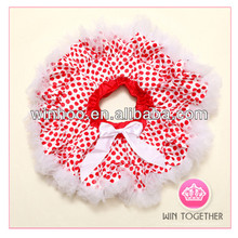 puffy red white polka dots teen pettiskirt in stock