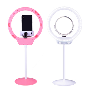Kernel Professional 9 Inch 8 Inch USB Led Ring Light Manufacturers Adjustable Mini LED Ring Light With Mirror Phone cage