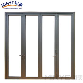China Supplier Aluminum Glass Doors Bathroom Folding Door Glass Shower Door  Hot Sale