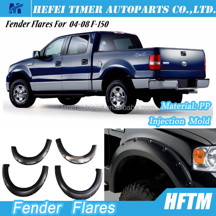 quality guaranteed PP material mini 4x4 pickup truck Fender flares for F-150 04-08