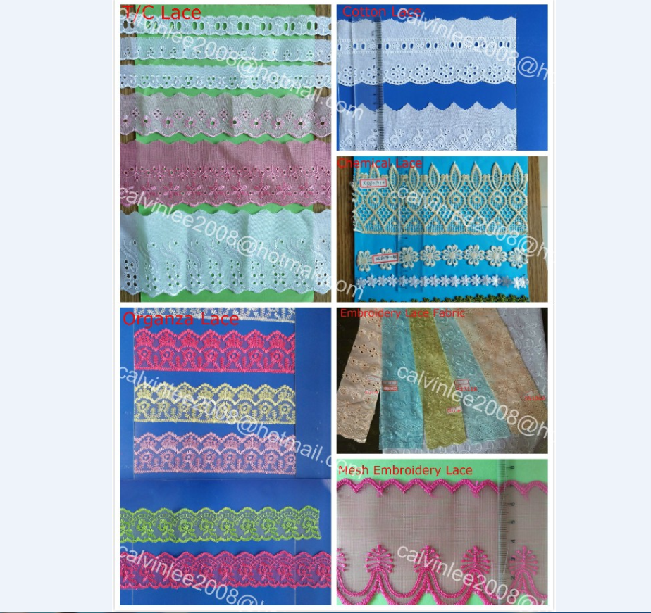 TC Cotton Embroidery Lace Trimming for South America