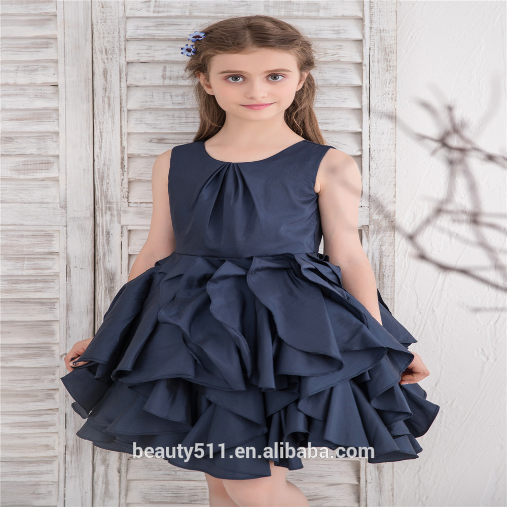 b84ac427278 2018 long tail cap sleeves ball gown bule tulle laces first communion dresses  for girls party