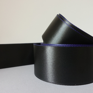 Black Double Sided ribbon satin 100% Polyester Satin Ribbon Supplier