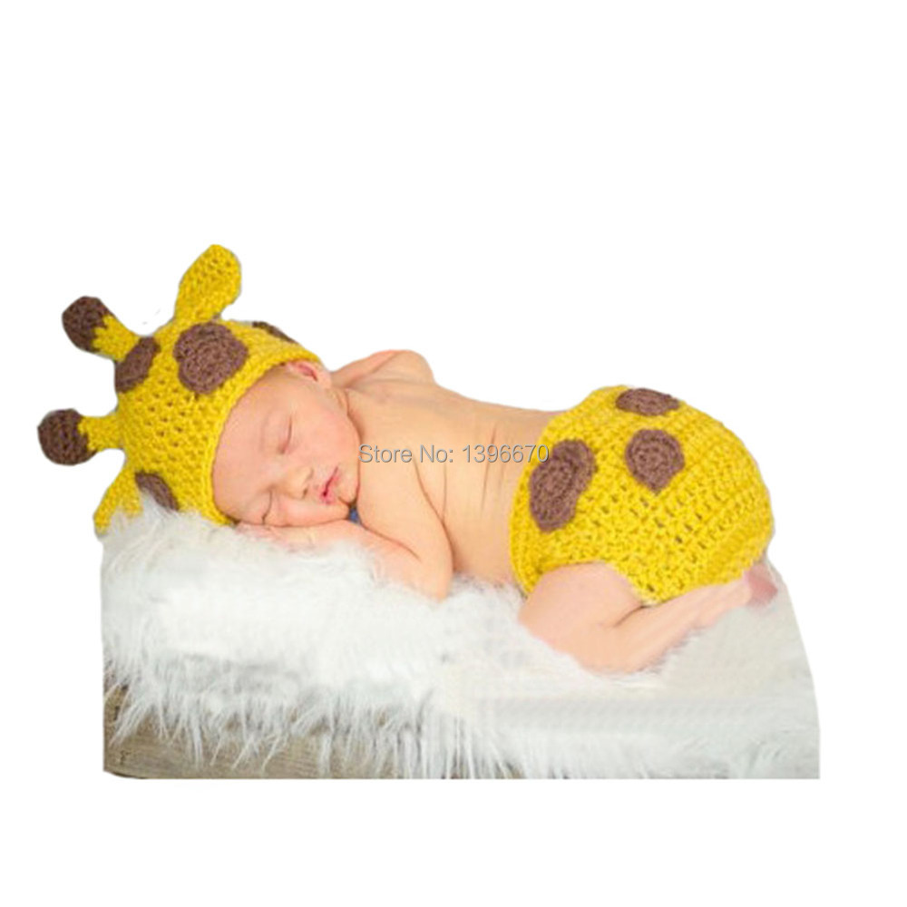Los Eva Unisex Baby Hat and Diaper Cover Set Crochet Photography Costume 0-24  Month 8956caa7a140