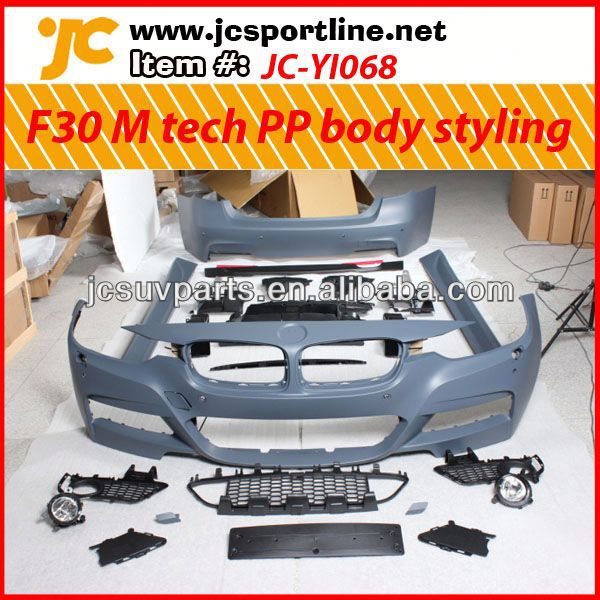 Car M tech PP body kit for BMW F30 auto body repair kit Auto PP body styling
