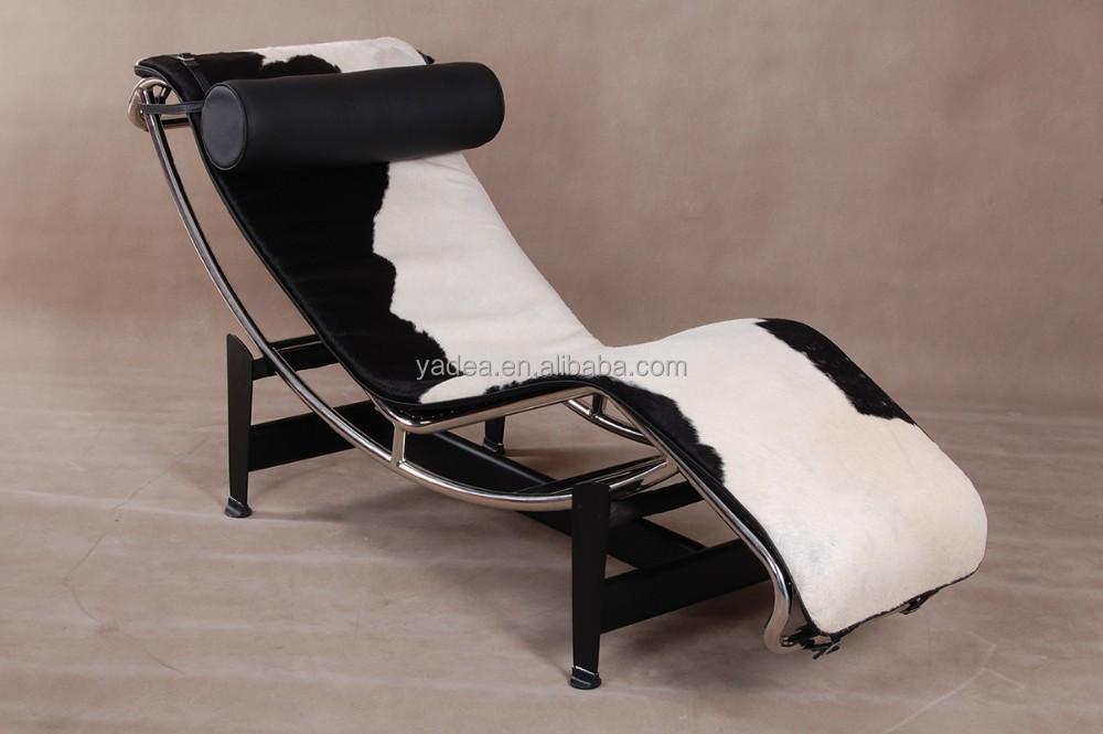meubles de salon le corbusier chaise longue lc4 peau de vache ... - Chaise Longue Le Corbusier Vache