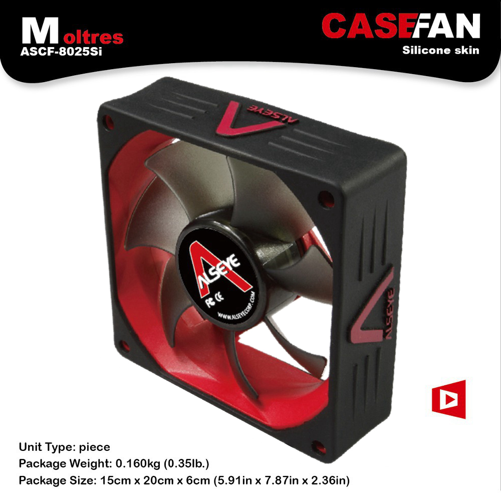 ALSEYE Quiet High Airflow Low Noise 80*80*25 Case Fan for Computer Cases CPU Coolers and Radiators