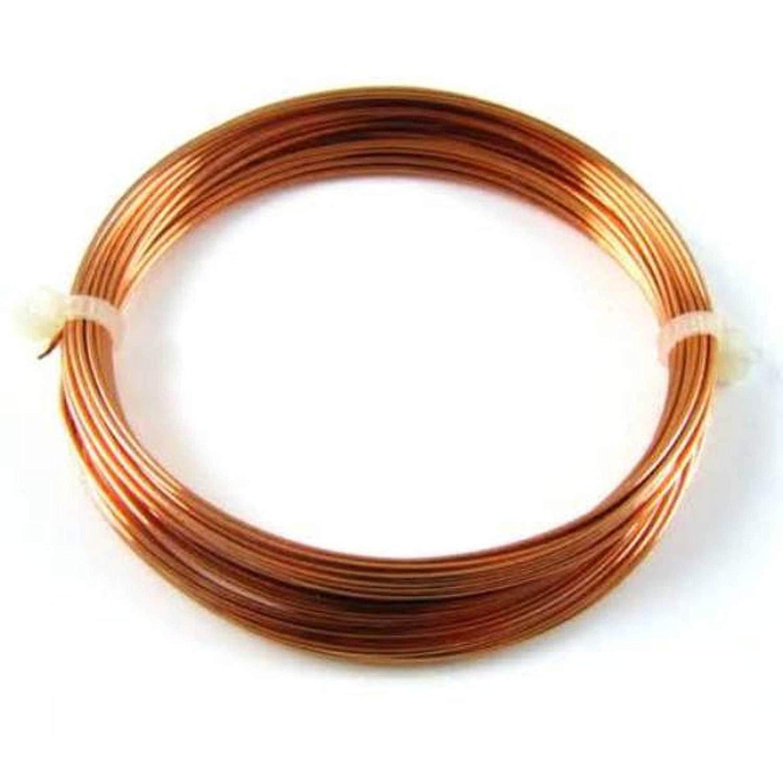 HALF HARD  Pure Copper 100 Ft Coil// 1//2 Lb 18 Ga Copper Jewelry /& Craft Wire