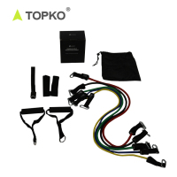 TOPKO with Door Anchor, Handles and Ankle Straps exercise tube workout band Resistance Training