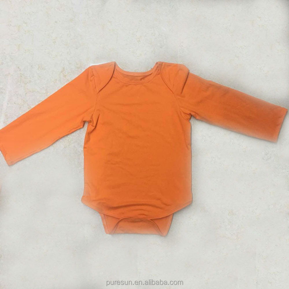 fall winter long sleeve soft cotton blank plain baby rompers
