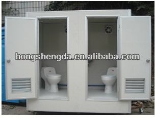 china portable construction site toilet waterless toilet double toilet
