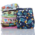 1PC Reusable Waterproof Cloth Diaper Baby Nappy Double Row Snap Suede Cloth Inner Wholesale Selling