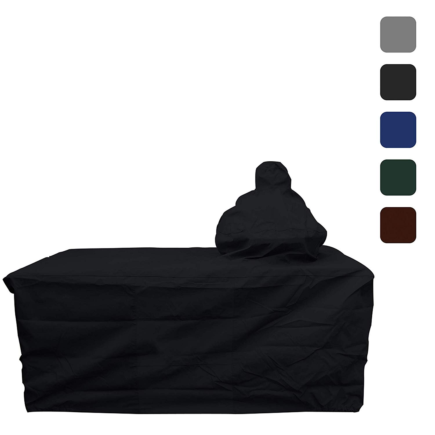 "COVERS & ALL Big Egg Grill Cover 18 Oz (60"" L x 27"" W x 56"" H, Black)"